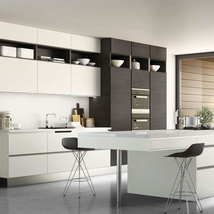 Icon Fleetwood Graphite & Porcelain Contemporary Kitchen - Mark Lohan Kitchens